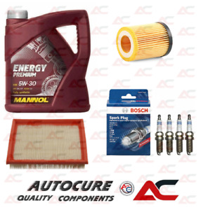 FOR VAUXHALL CORSA B (97-00) SPARK PLUGS, OIL & AIR FILTER SERVICE KIT + 5L OIL