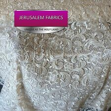 Gorgeous Guipure Lace Fabric Ivory. Sold By The Yard.