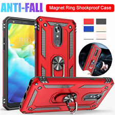 Military Armor Case for LG Q60 Stylo 5 K30 K40 K50/Aristo 4 3 2 Ring Stand Cover