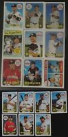 2018 Topps Heritage Miami Marlins Base Team Set of 16 Baseball Cards