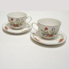 China Teeservice  2x Teetasse mit Unterteller Sammeltasse
