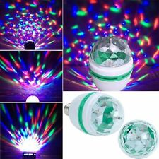 Novelty B22 RGB LED Disco Light Bulb Rotating Multi Coloured 1.5W Party Lamp