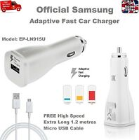 Official Samsung Galaxy S6 S7 Edge Adaptive Fast 2A Car Charger + 1.2M USB Cable