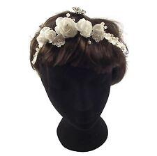 White Diamante Slim Head Piece - Wedding Fascinator