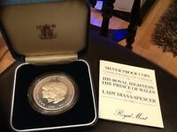 1981 PRINCE CHARLES & LADY DIANA WEDDING - SILVER PROOF COIN in Presentation box