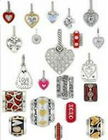 Brighton Beads Charms Spacers Stoppers New & Retired Fine Silver Plate Swarovski