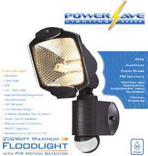 Seguridad Al Aire Libre Luz Halógena De Exterior De Pared Exterior Sensor De Movimiento Pir R7-Negro