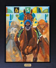 American Pharoah Belmont Stakes Art Signed Canvas Print Horse Racing SFASTUDIO