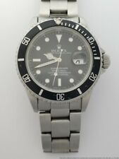 Mens Rolex 16610 Stainless Steel Submariner Oyster Perpetual Watch