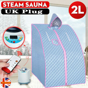 Steam Sauna Spa Room Pot Tent Full Body Slimming Therapy Detox Remote + Chair UK