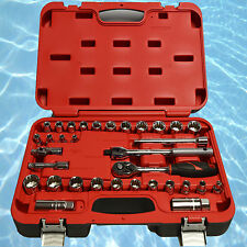 "Fuller Pro 3/8"" Drive 33 Piece Metric & SAE Chrome Vanadium Socket Set"
