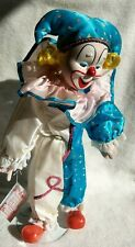 "Heritage Mint Ltd., Porcelain Clown, ""Happiness and Love Collection""-16"" -1989"