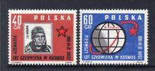 POLAND MNH 1961 SG1221-1222 WORLD'S FIRST MANNED SPACE FLIGHT