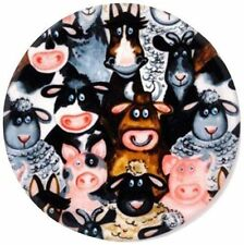 Andreas Silicone Trivets Kitchen Jar Opener Barnyard Animals Cow Pig Horse NEW