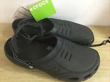 Crocs Yukon Sport Men's Black Leather Clog Leather Size UK 13