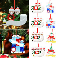 2020 Xmas Family Santa Christmas Tree Hanging Family Ornament Decorations Gifts