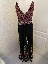 Vestido maxi señoras Derhy Talla 14/16 negro/Floral