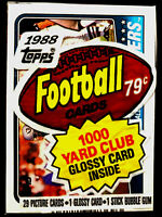 1988 Topps Football Cello Pack w/ BO JACKSON on Top ~ RAIDERS TEAM CARD #325