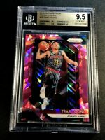 TRAE YOUNG 2018 PANINI PRIZM #78 PINK ICE REFRACTOR ROOKIE RC BGS 9.5 10