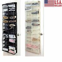Over the Door Shoe Organizer Rack 26 Pocket Hanging Storage Space Saver Hanger