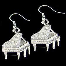 Grand Baby Piano~ made with Swarovski Crystal Musical Instrument Music Earrings