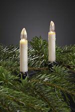chaîne lumineuse LED pour intérieur avec 20 Bougies blanc chaud/transparent