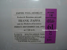 FRANK ZAPPA 1973 Concert Ticket Stub WEMBLEY U.K. Empire Pool London MEGA RARE