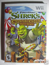 Shreks Carnival Craze  Party Games Wii  2008 by Dream Works ! Sealed & New