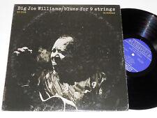 BIG JOE WILLIAMS NM+ BLUES FOR 9 STRINGS Bluesville RVG Willie Dixon 1056 album