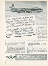 1951 Texaco Fuel Ad Braniff International Airways Vice President Airline Canada