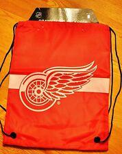 RED WINGS Drawstring Back Pack Back Sack BackPack NEW NHL DETRIOT RED WINGS