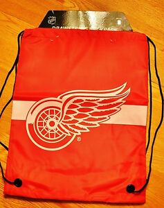 Detroit RED WINGS Drawstring Back Pack Back Sack BackPack NEW NHL FREE SHIPPING