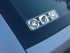 VAUXHALL PLUS BOOST EQUALS SMILES CAR STICKER FUNNY DECAL TURBO C20LET CORSA GSI