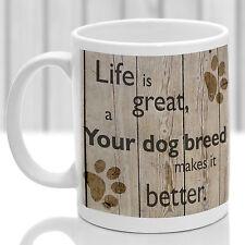 TAZZA per Cane Personalizzato, Custom cane razza regalo, il tuo cane razza stampata in modo permanente