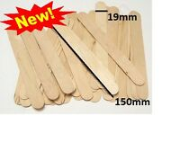 Large jumbo wooden natural lollipop lolly sticks pack of 50