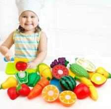 Kitchen Fun Cutting Fruits and Vegetables Food Play Toy Set for Kids Children to