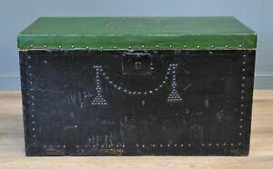 Attractive Antique Victorian Pine Kist Chest Storage Trunk Blanket Toy Box