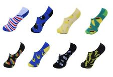 8 Pairs Invisible Socks No Show Ankle Low Cut Heel Grip Footlet Unisex Novelty