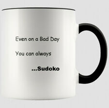 Sudoko Mug Funny Saying Phrase Quote - Mothers Day Gift - Black and White