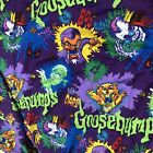 Vintage Goosebumps Flat & Fitted Sheets Set No Pillow Case O3