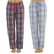 Womens Pyjama Bottoms Ladies Lounge Pants Check Cotton Blend Nightwear 10-18 Navy-polar Bear 8-10