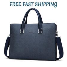 Leather Business Men's Bag Travel Portable Briefcase, Shoulder Laptop Handbag