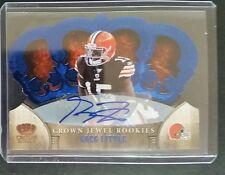 2011 Crown Royale #5 GREG LITTLE 14/25 Blue Die-Cut Autograph Cleveland Browns