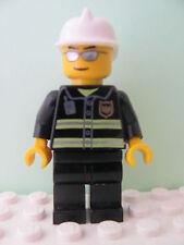 LEGO Minifig wc021 @@ Fire Reflective Stripes Fire Helmet, Sunglasses 7208 7245