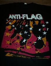 ANTI-FLAG Punk Band T-Shirt LARGE NEW