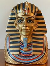Large King Tut death mask bust, Egyptian statue (13 inch)