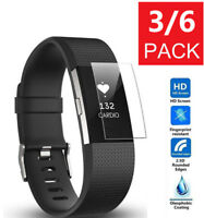 Screen Protector Full Coverage For Fitbit Charge 2 HD Clear AntiBubble Film