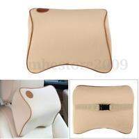 Car Seat Headrest Memory Foam Travel Pillow Pad Head Neck Rest Support Cushion
