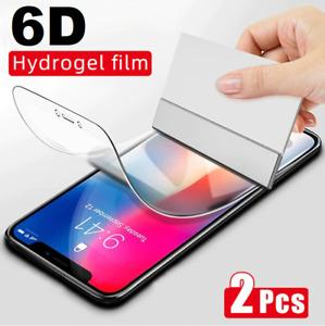 ✅2x iPhone 11 12 XS X Pro Max HydroGel Panzerfolie Display Schutzfolie 6D CURVED