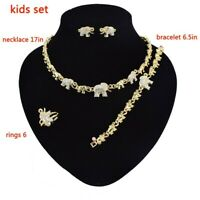 #46 HUGS & KISSES children xo set 18k Layered Real Gold Filled Kids Set